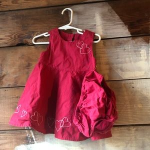 Gymboree 6-12 Months Heart Dress and Diaper Cover